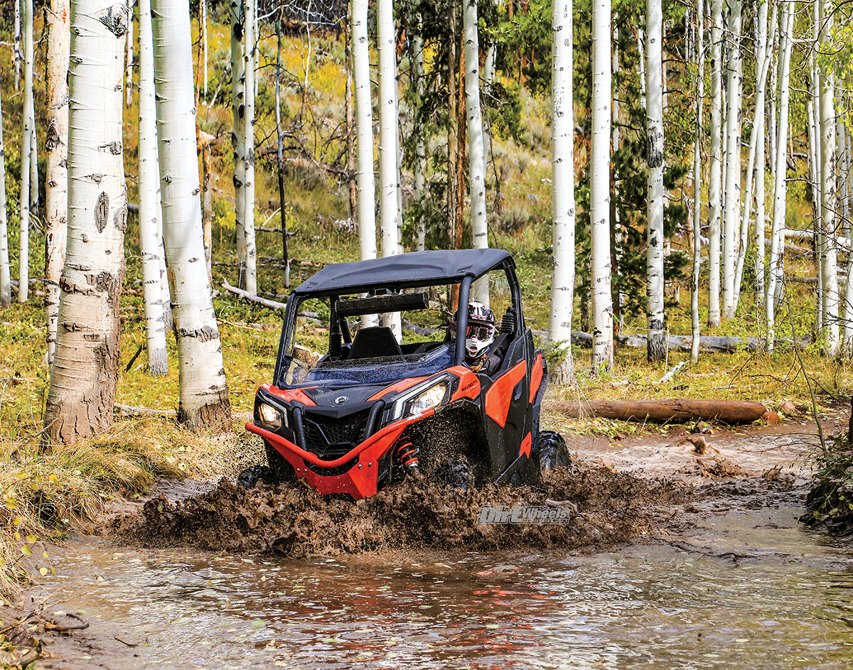 Can Am Maverick Trail Dirt Wheels Magazine Had A Guy Ask Me To Look At The Electrical On His Sidebyside No Matter How Much Water Mud Or Snow We Got 1000 Dps In Engine Never Missed Beat Air Intakes Are High Sides Of