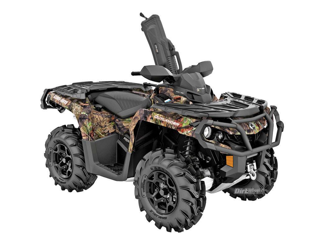 2018 Atv Buyers Guide Dirt Wheels Magazine Diagram Of Gas Lines On 1995 Polaris 300 4x4 Xplorer Can Am Outlander Mossy Oak Hunting Edition 1000r Hunters Will Have Everything They Need To Stalk Prey With This Burly Machine The 89 Horsepower