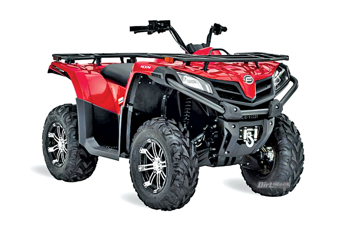 CFMOTO CFORCE 500S This machine comes with a 493cc, single-cylinder,  four-stroke engine with Bosch electronic fuel injection. The 4×4 system has  a locking ...