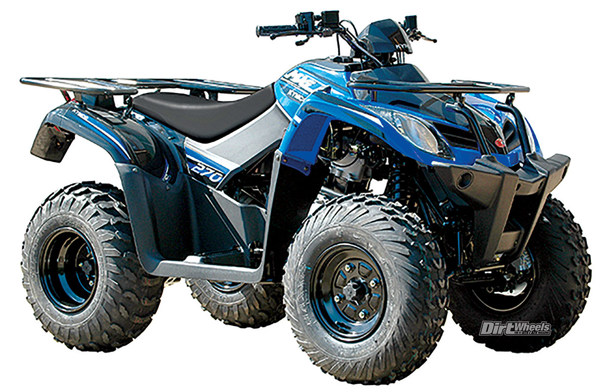 2018 Atv Buyers Guide Dirt Wheels Magazine 2006 Kawasaki Brute Force Wiring Diagram The Kymco Mxu 270 Is Closely Related To Kawasakis 300 Both Machines Have Electric Start For Single Cylinder Four Stroke Engines