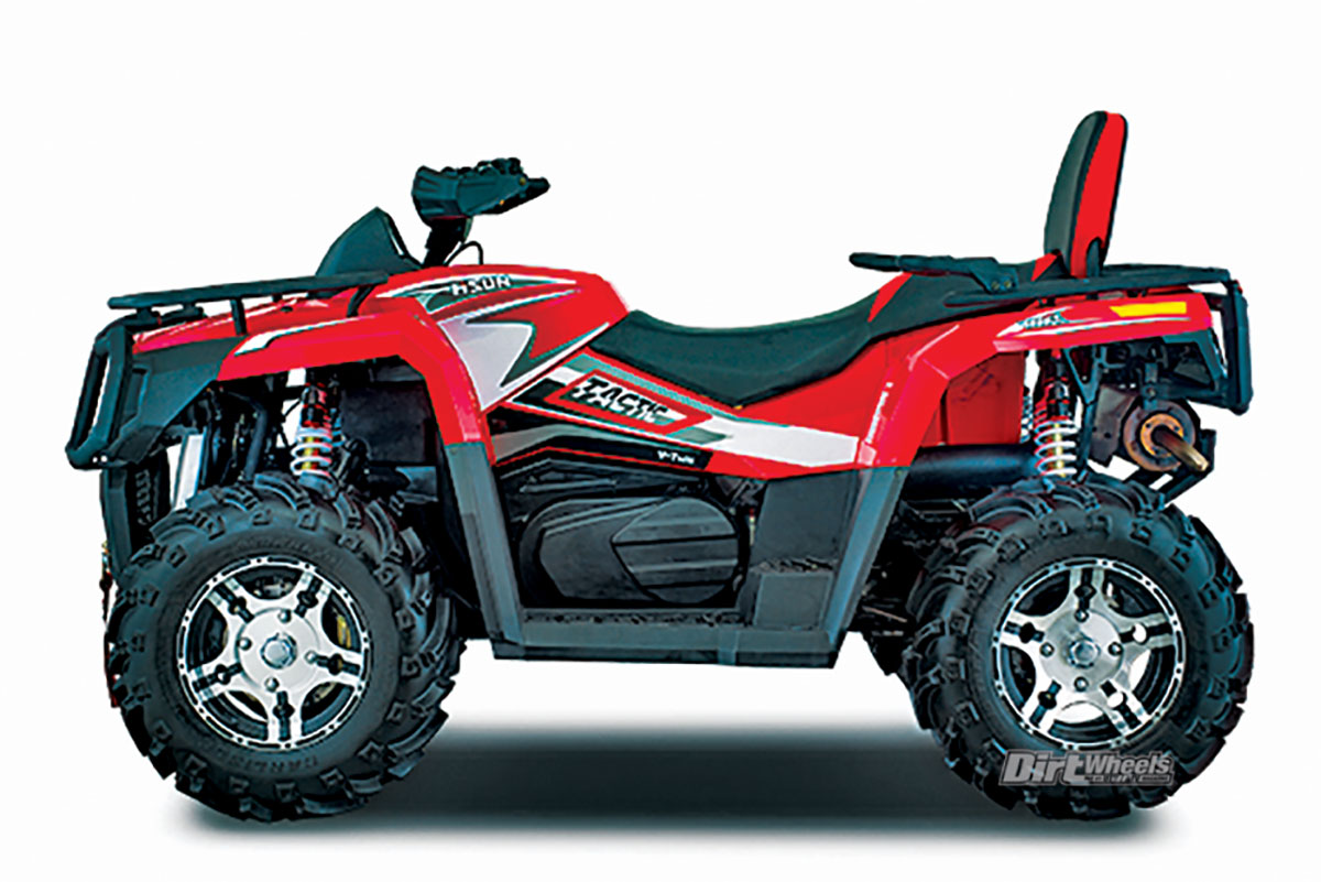 2018 Atv Buyers Guide Dirt Wheels Magazine Yamaha Kodiak 450 Winch Wiring Diagram Like All Hisun Atvs The Tactic 1000 Comes Fully Loaded With Eps Diff Lock Machined Cast Aluminum A Handguards And More