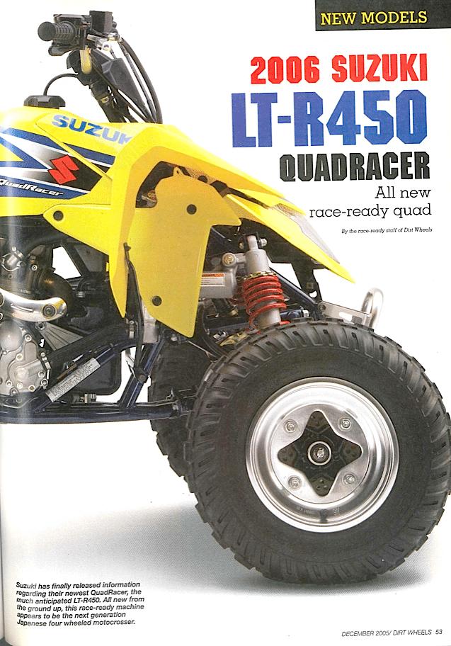 SUZUKI LT-R450 QUADRACER | Dirt Wheels Magazine