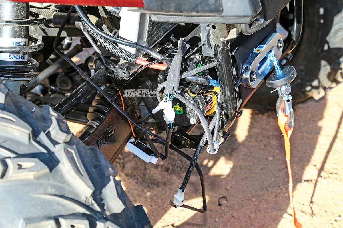 Installing A Polaris Pro Hd Winch Dirt Wheels Magazine Wiring Diagram For Car Once We Completed The Mechanical Installation And Located Were Left With This Untidy Situation Made Sure That Was