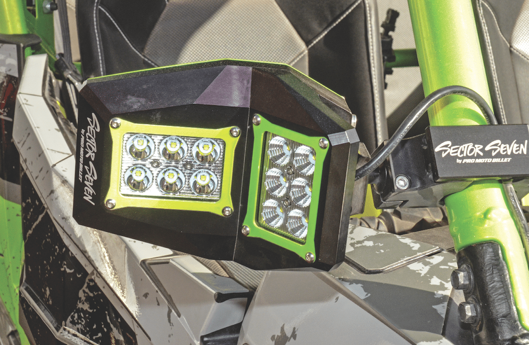 Polaris Side By Side >> SIDE MIRRORS WITH BUILT-IN HEADLIGHTS | Dirt Wheels Magazine
