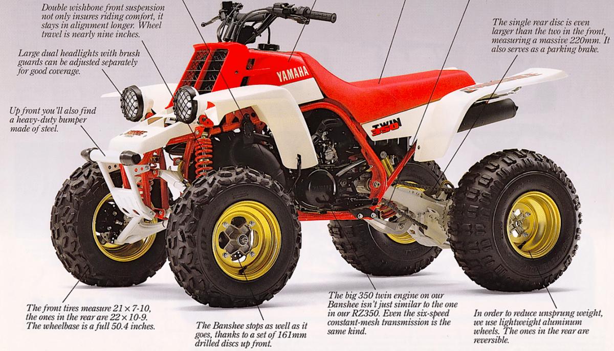 the banshee yamaha s greatest quad dirt wheels magazine the banshee yamaha s greatest quad