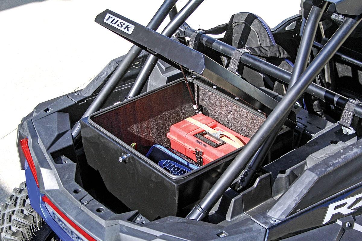 tusk utv cargo box dirt wheels magazine